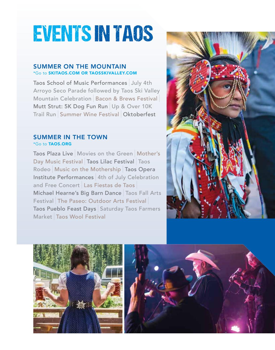 Taos & Taos Ski Valley Visitor Guide 2019-20 SUMMER by Visit