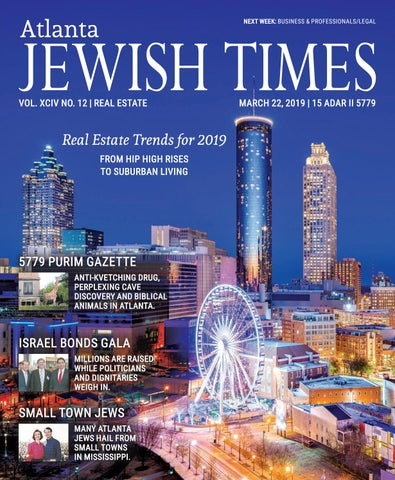 db9722e65 Atlanta Jewish Times, XCIV No. 12, March 22, 2019 by Atlanta Jewish ...