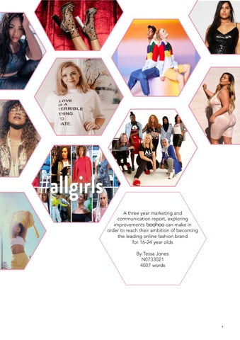 4314c0bdee2 A three year marketing and communication report, exploring improvements  boohoo can make in order to reach their ambition of becoming the leading  online ...