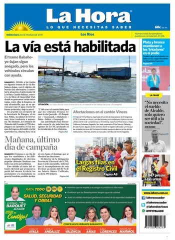 643c764c6933 Los Ríos 20 de marzo de 2019 by Diario La Hora Ecuador - issuu