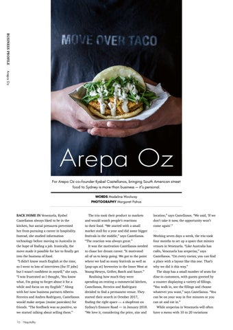 Page 16 of Business Profile: Arepa Oz
