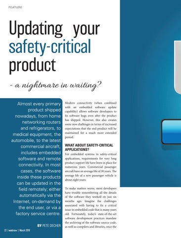 Page 22 of Updating your safety-critical product