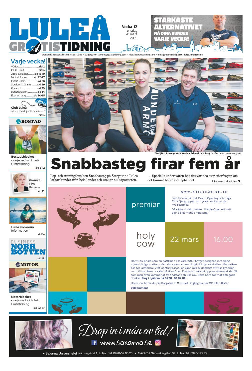 8bb6d3e405b8 Luleå Gratistidning vecka 12, 2019 by Svenska Civildatalogerna AB - issuu