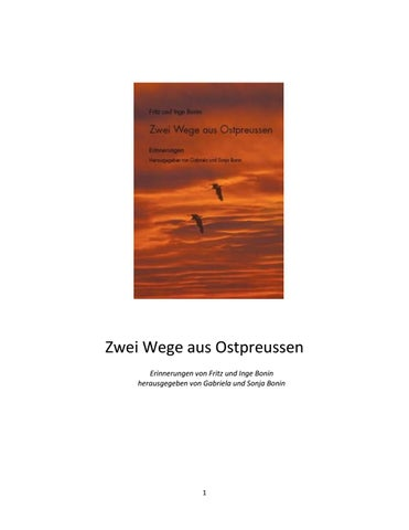 Zwei Wege Aus Ostpreussen By Gbonin Issuu