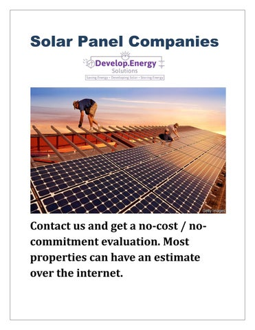 solar panel companies by Develop Energy Solutions, Inc  - issuu