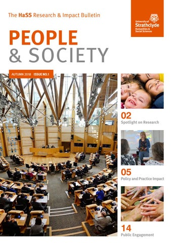 People & Society -Issue No  1- Autumn 2018 by Humanities