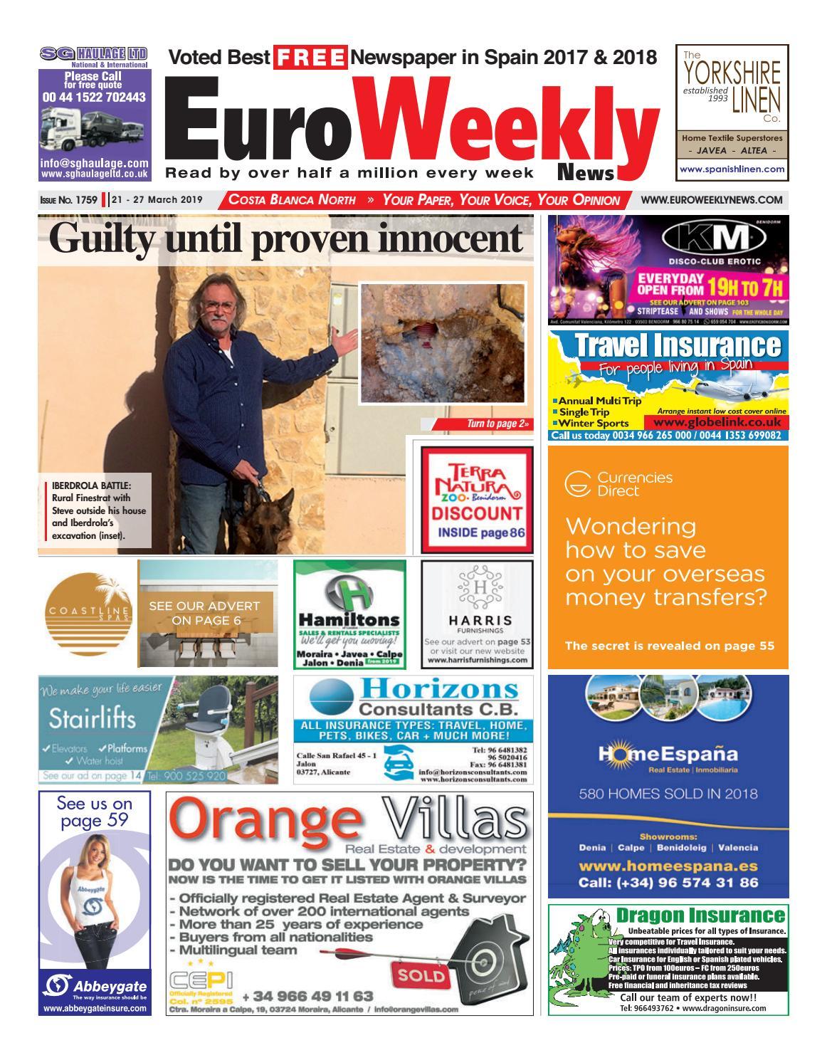 Animal Crossing Drawing Blanca Face Porn euro weekly news - costa blanca north 21 - 27 march 2019
