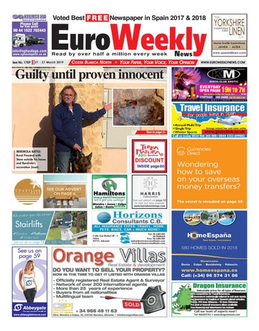Euro Weekly News - Costa Blanca North 21 - 27 March 2019
