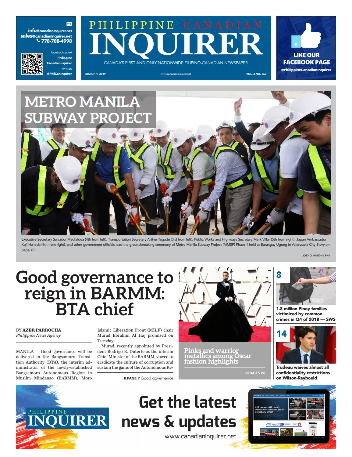 b6fa12ca8dc26 Philippine Canadian Inquirer  360 by Philippine Canadian Inquirer - issuu