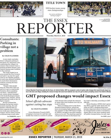 The Essex Reporter: March 21, 2019 by Essex Reporter - issuu