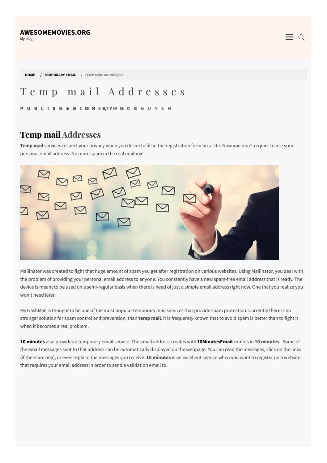 Temp mail Addresses by tempemail27 - issuu