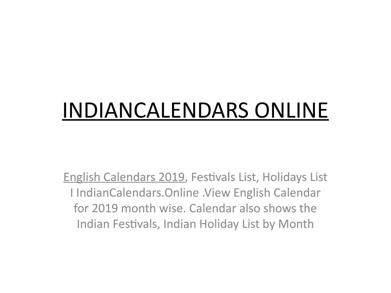 Free Printable 2019 Calendar: Holiday Calendar 2019 Calendar