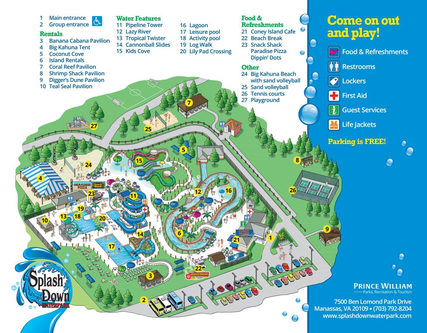 Splashdown Waterpark Map By Pwcdpr Issuu