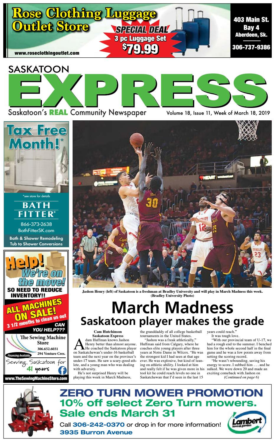 e5451492678 Saskatoon Express, March 18, 2019 by Saskatoon Express - issuu