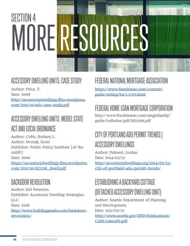 Page 44 of Section 4: More Resources