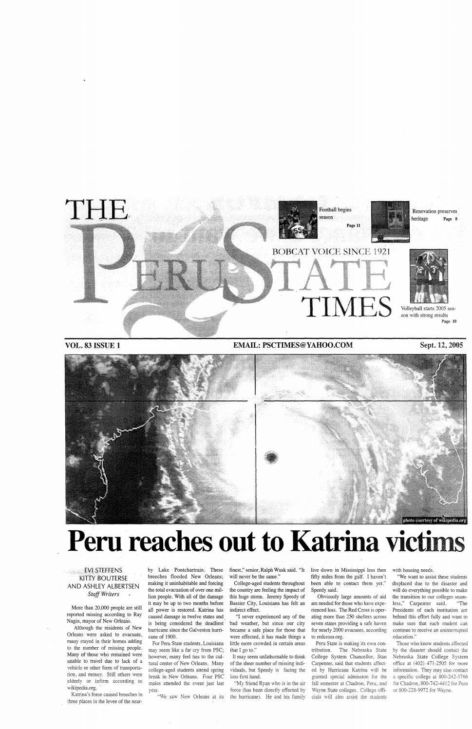 2005 2006 The Times Peru Ne Issues 1 10 By Peru State College Library Issuu