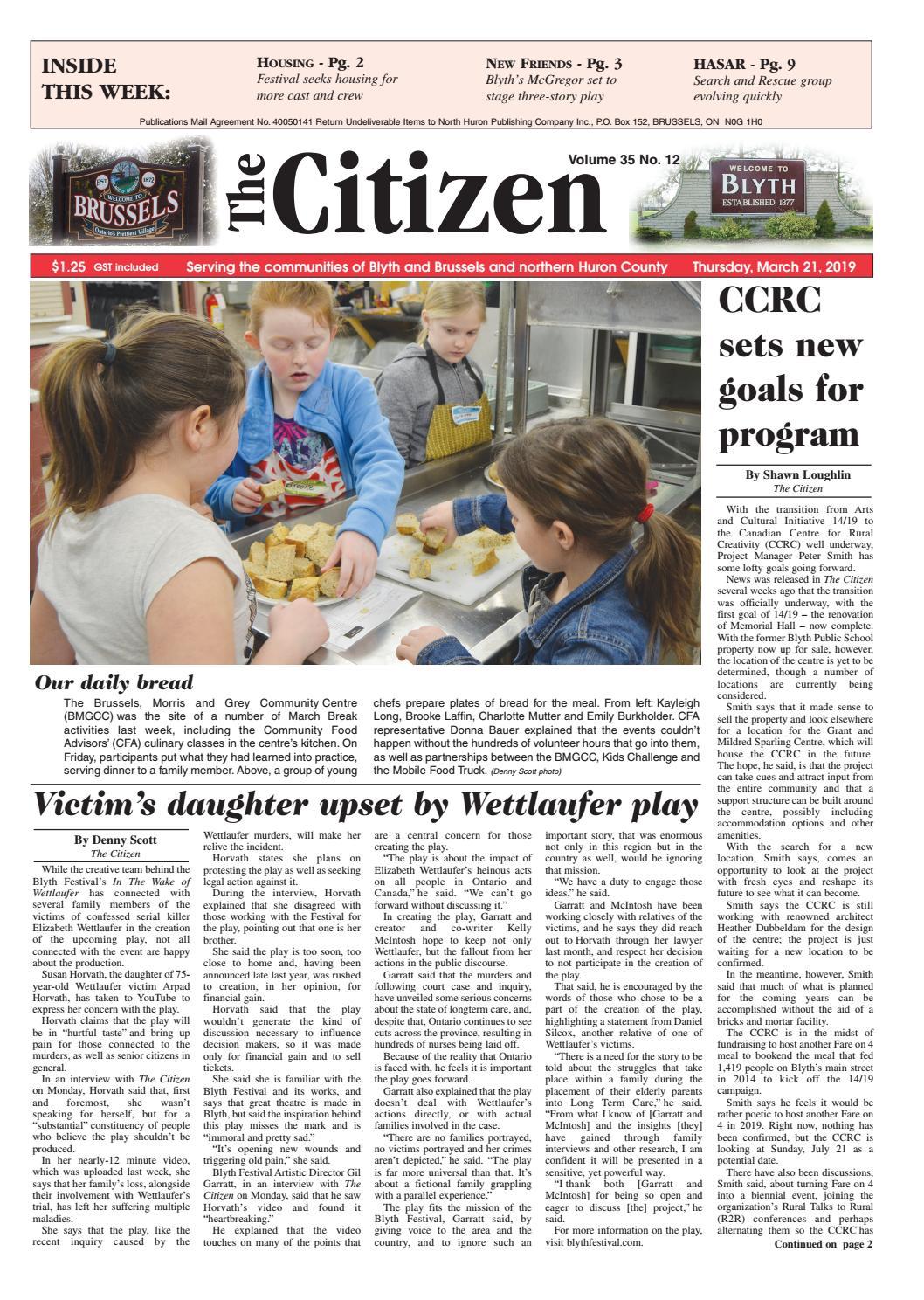 The Citizen - March 21, 2019 by North Huron Publishing Company Ltd