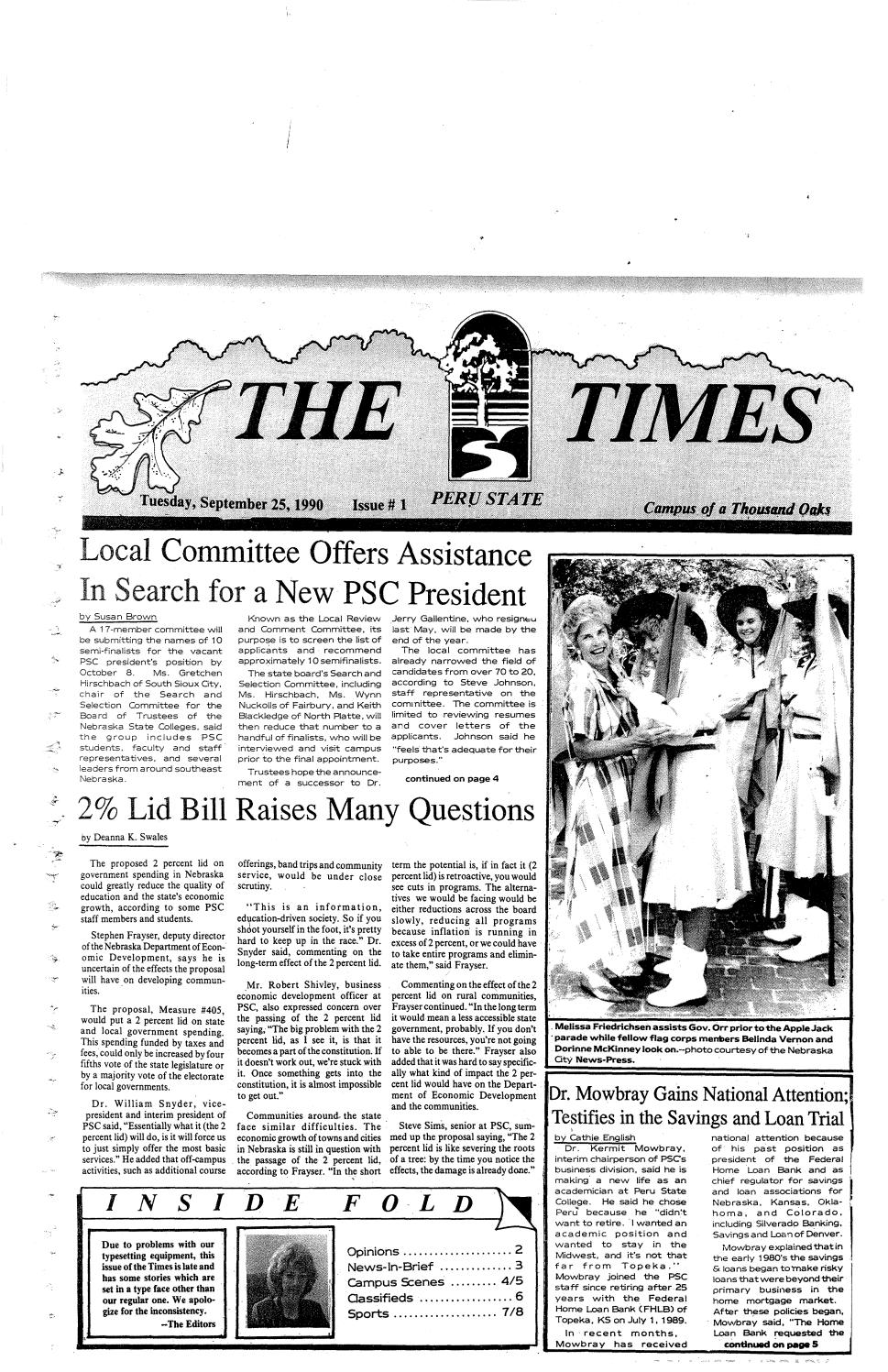 another chance 60cf7 b2feb 1990-1991 The Times - issues 1-13 by Peru State College Library - issuu