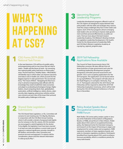 Page 6 of Whats Happening At CSG