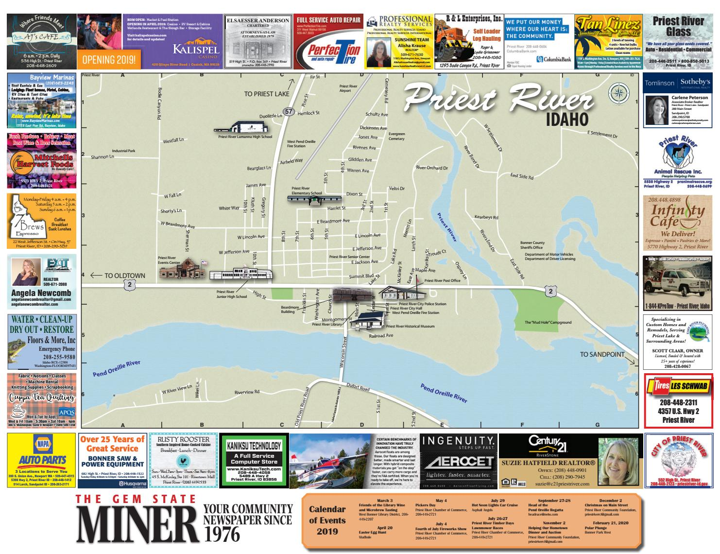 priest river idaho map 2019 Priest River Map By The Newport Miner Issuu priest river idaho map