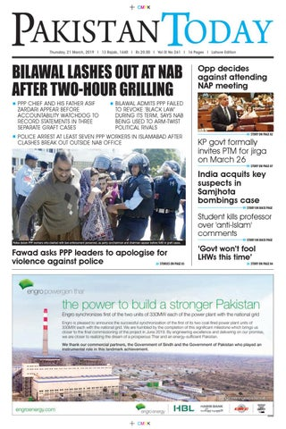 E-Paper PDF 21 March (LHR) by Pakistan Today - issuu