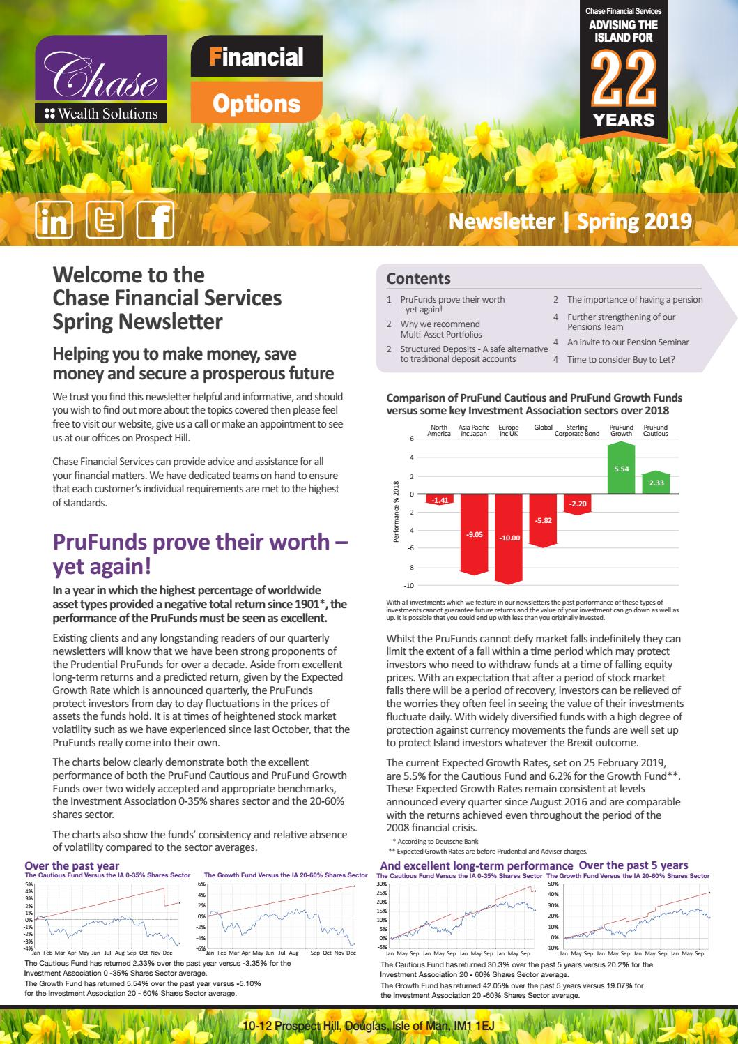 Chase Financial Services Spring Newsletter by Forward