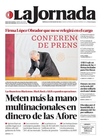5701806487 La Jornada, 03/20/2019 by La Jornada - issuu