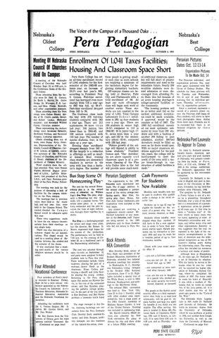 1965 1966 Peru Pedagogian Issues 1 14 By Peru State College Library Issuu
