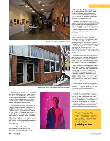 Page 19 of Columbus Arts Space To Highlight Queer Art In 2019