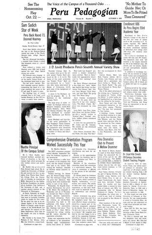 8b950fa16db 1960-1961 Peru Pedagogian - issues 1-19 by Peru State College ...