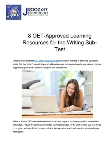 8 OET-Approved Learning Resources for the Writing Sub-Test