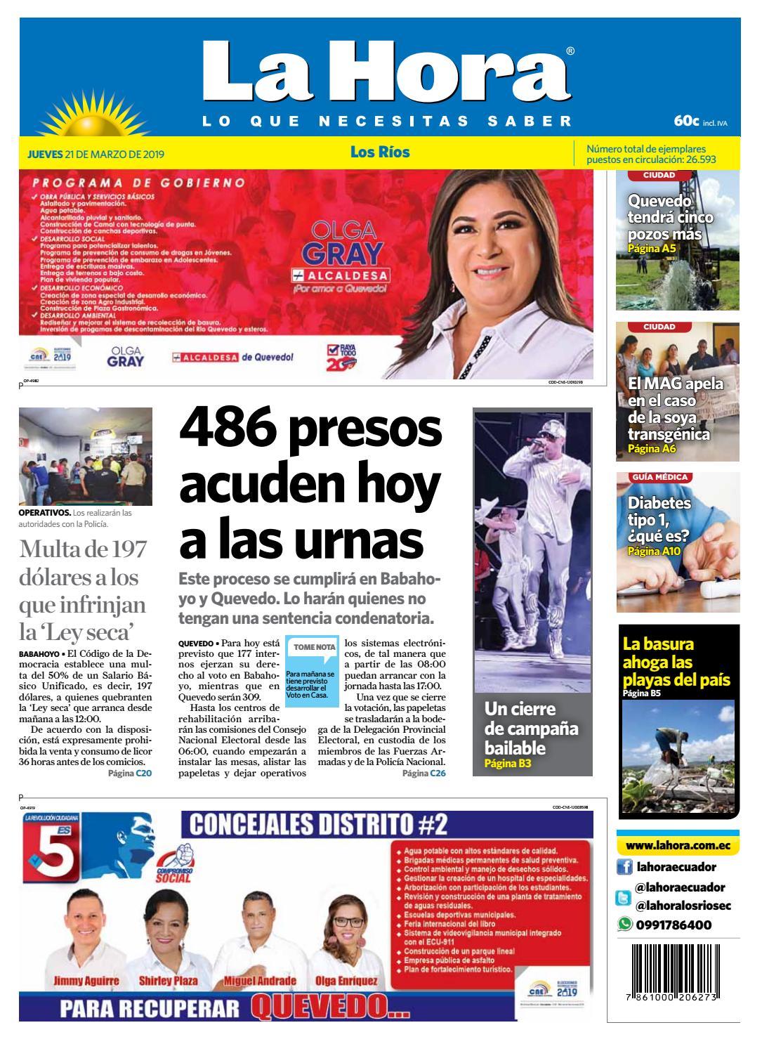 5f04331b85 Los Ríos 21 de marzo de 2019 by Diario La Hora Ecuador - issuu