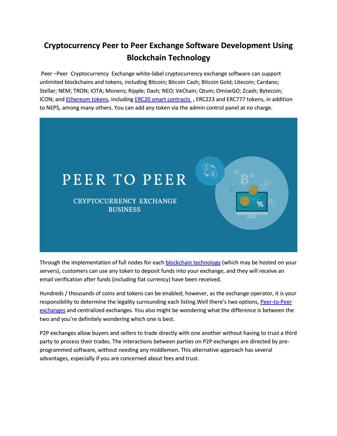 best peer to peer cryptocurrency