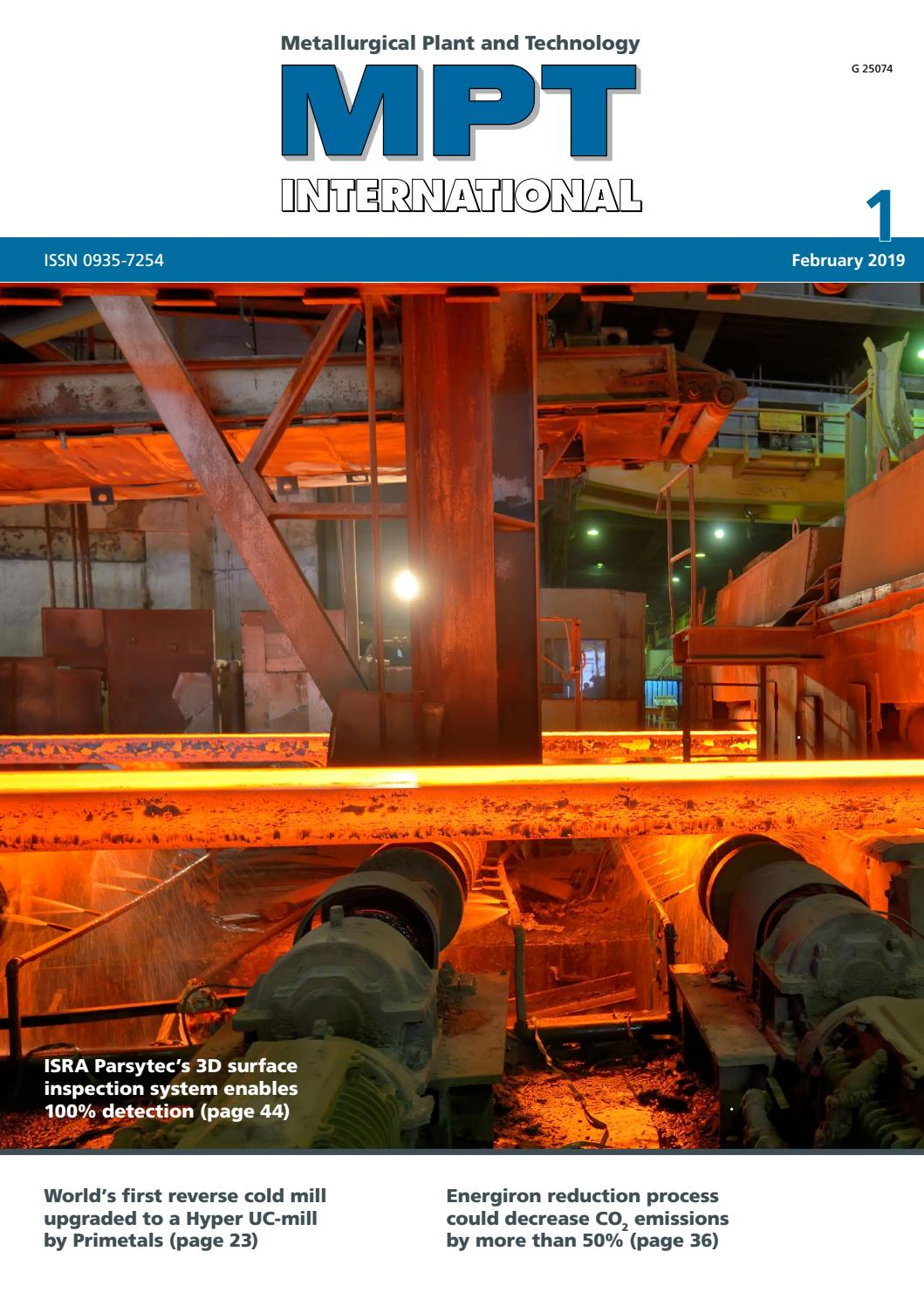 MPT International 1/2019 (Feb) by MPT Metallurgical Plant