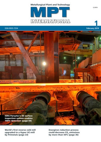 MPT International 1/2019 (Feb) by MPT Metallurgical Plant and