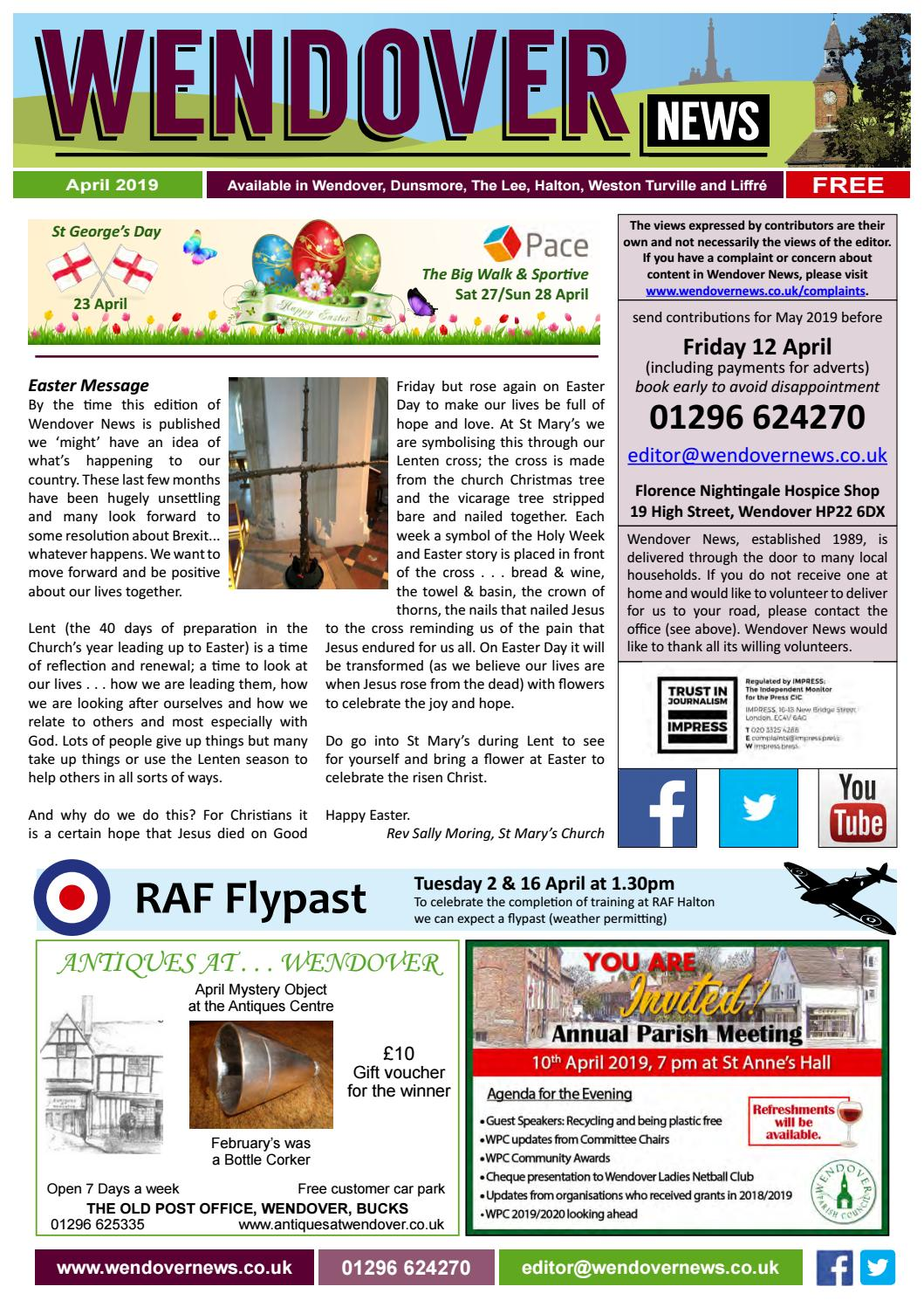 d9e37f4e Wendover News April 2019 by Wendover News - issuu