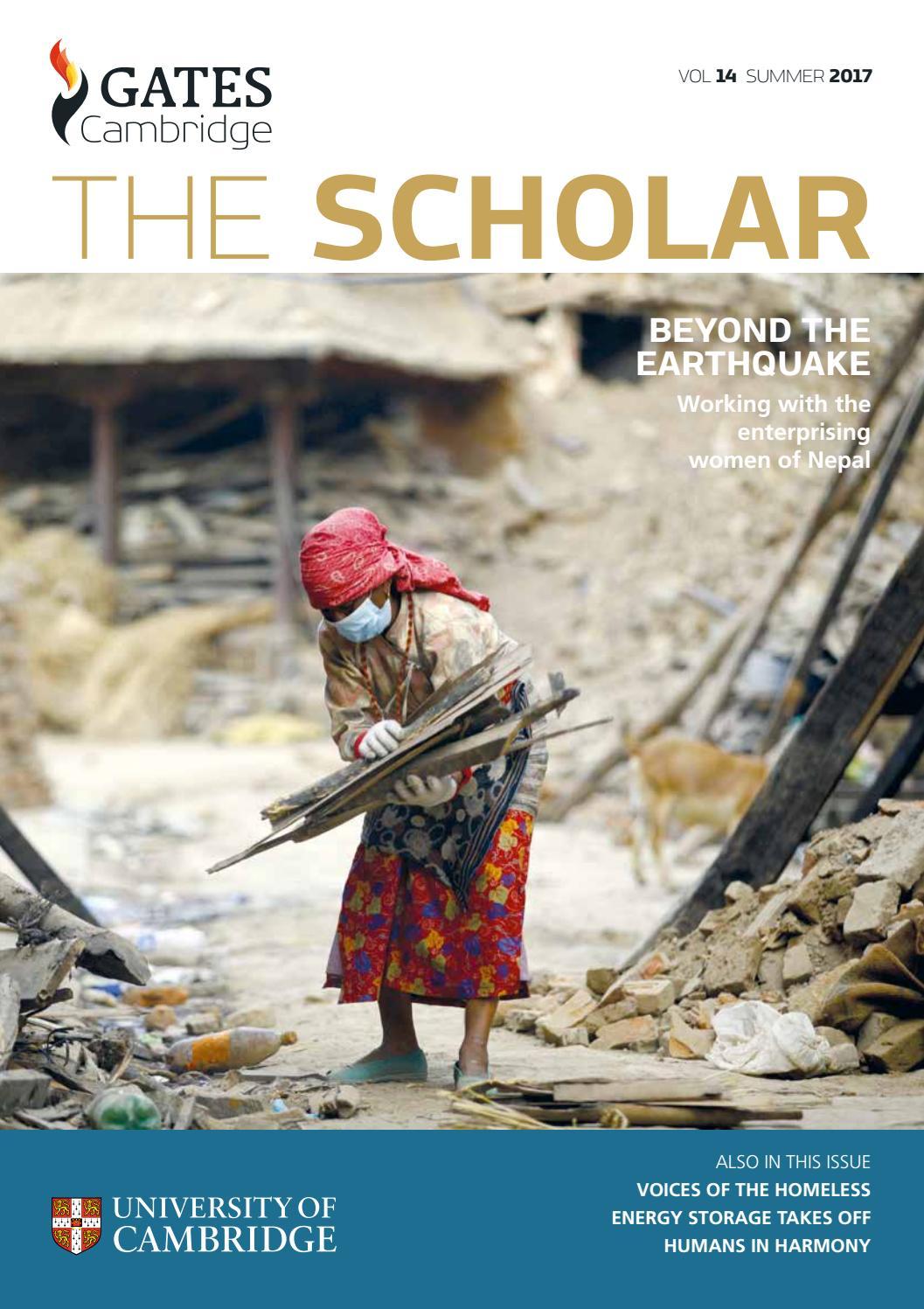 The Scholar Magazine 2017 by Gates Cambridge - issuu