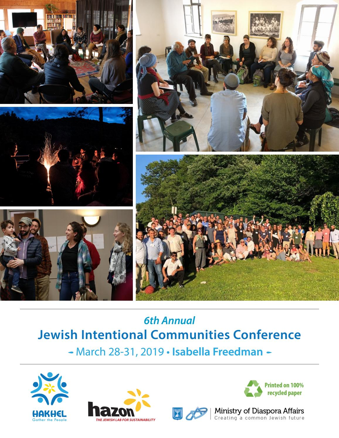 2019 Jewish Intentional Communities Conference - Program Book by ...
