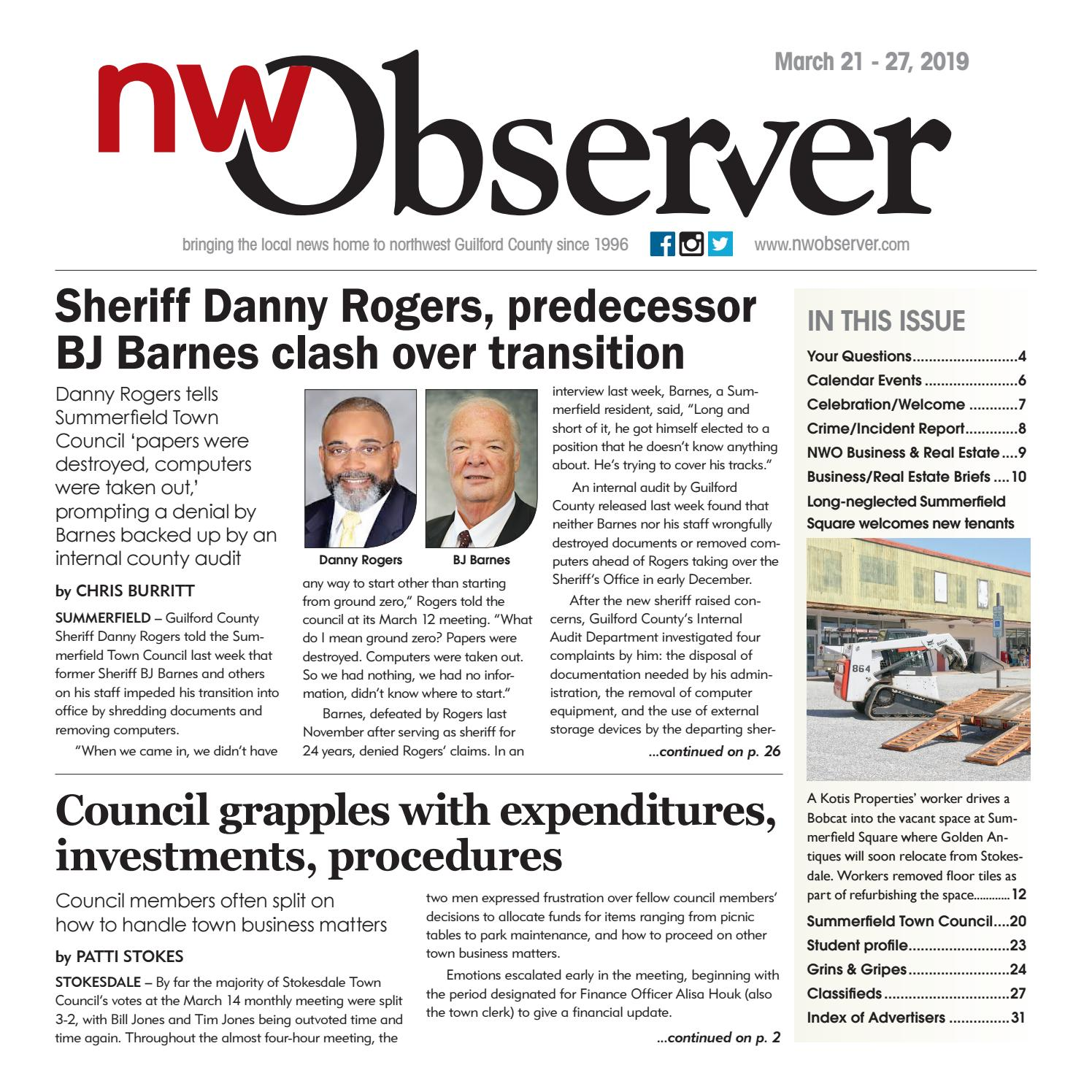 Northwest Observer I March 21 - March 27, 2019 by
