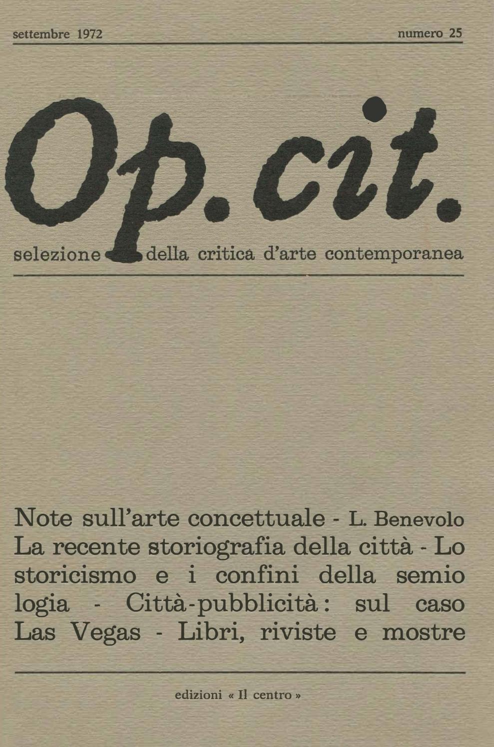 Op. cit., 25, settembre 1972 by Op. Cit. issuu