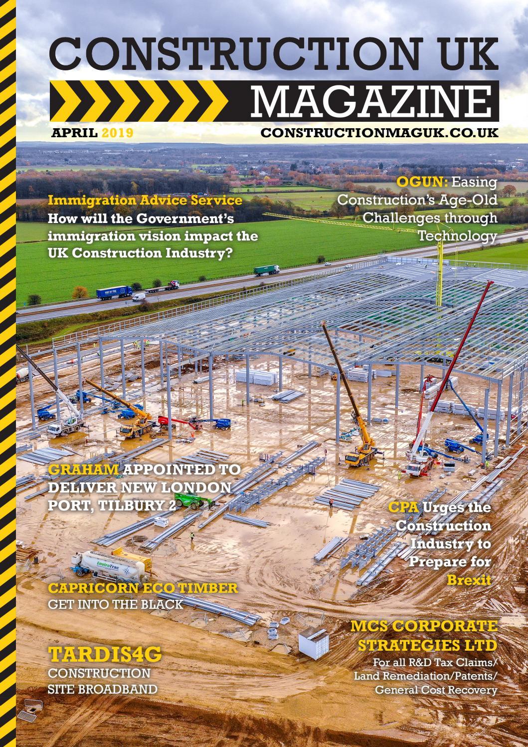 Construction UK Magazine - April 2019 by Lapthorn Media - issuu
