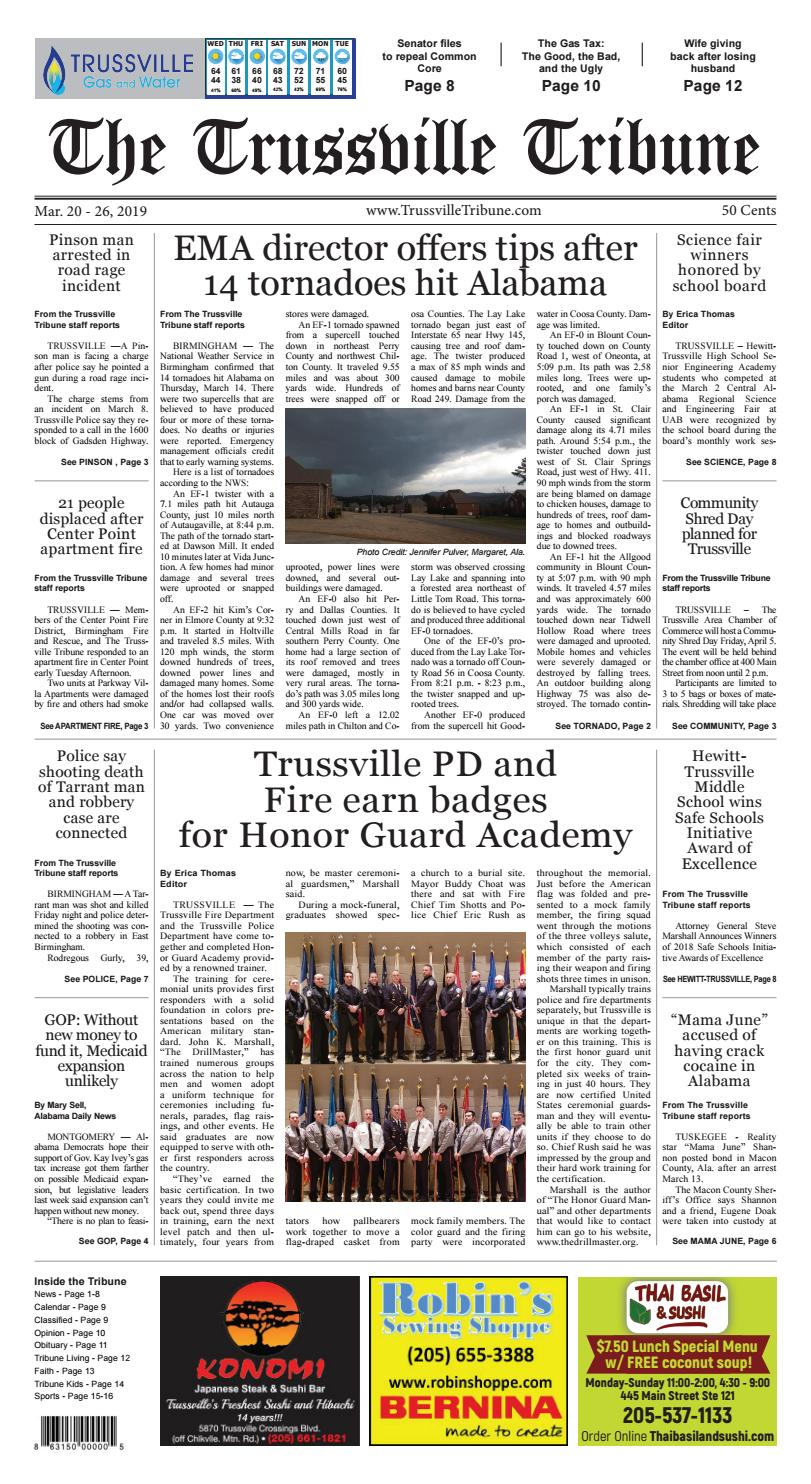 The Trussville Tribune - Mar  20 - 26, 2019 by Mike Kurov