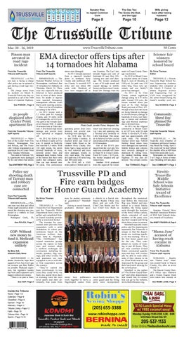 The Trussville Tribune - Mar  20 - 26, 2019 by Mike Kurov - issuu