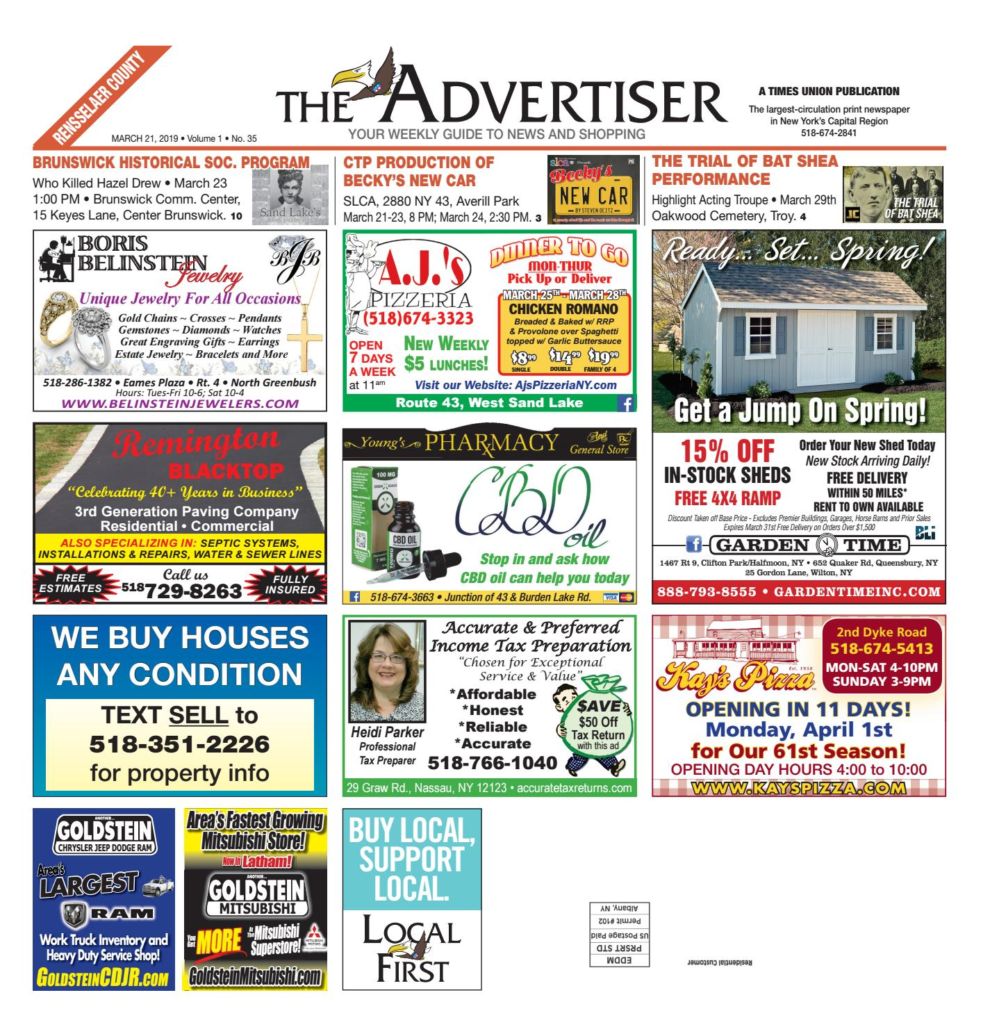 71928c37 Local First The Advertiser 032119 by Capital Region Weekly Newspapers -  issuu