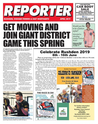 East Northants Reporter April 2019 by Rosetta Publishing issuu