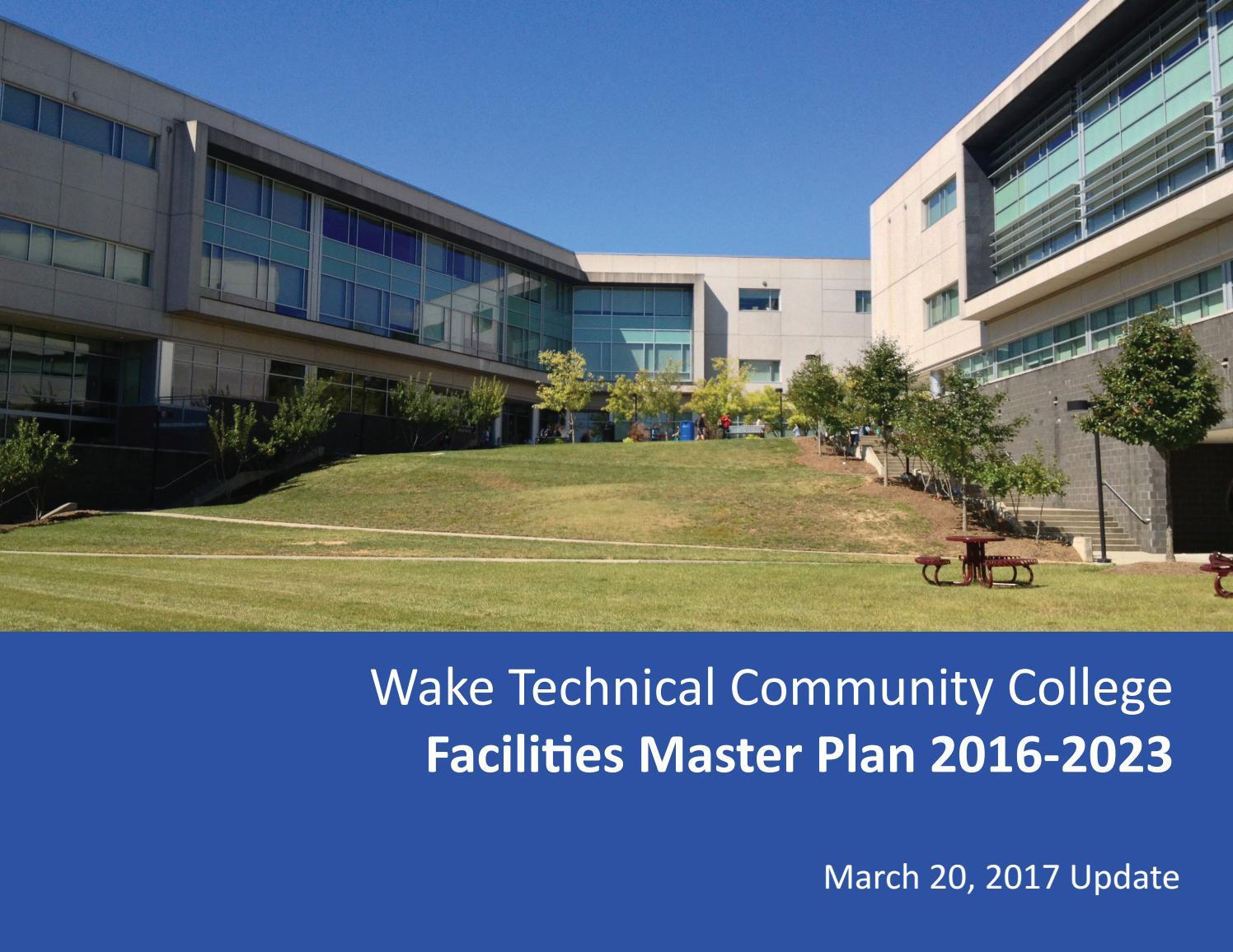 Wake Tech Master Plan 2017 by Wake Tech Community College
