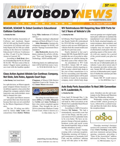 April 2019 Southeast Edition by Autobody News - issuu