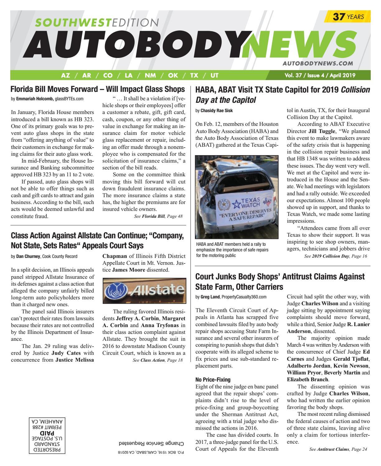 April 2019 Southwest Edition by Autobody News - issuu