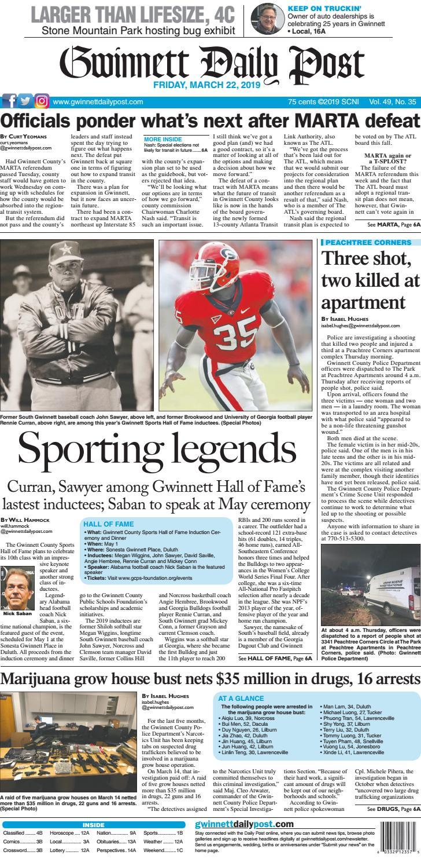 March 22, 2019 — Gwinnett Daily Post by Gwinnett Daily Post