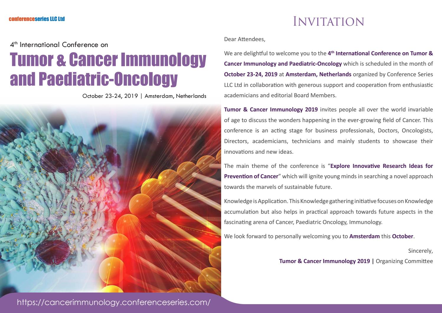 4th International Conference on Tumor & Cancer Immunology